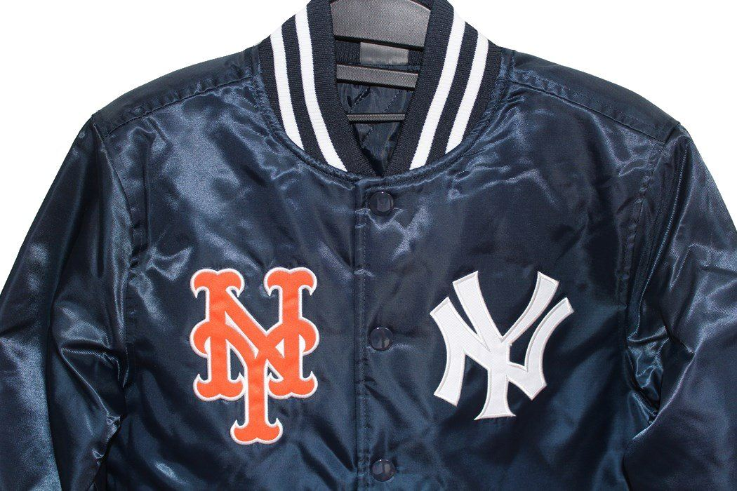 Yankees Mets MLB Majestic New York Yankees Mets team jacket kids navy new  article a4a162e17983