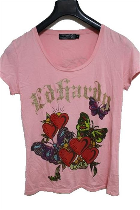 エドハーディー ed hardy レディース半袖Tシャツ W02GRH565 ピンクxedoCrB