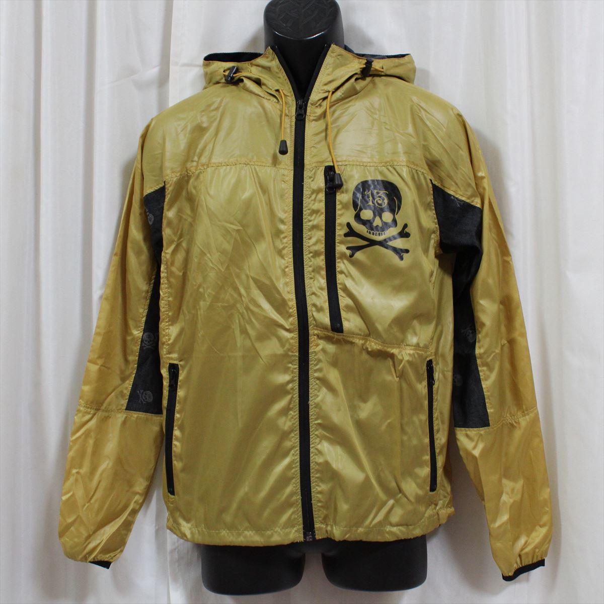 【送料無料】エドハーディーed hardy メンズウィンドブレーカー ジャケット ゴールド M09DSW553 新品 ポケッタブル ウィンドジャケット