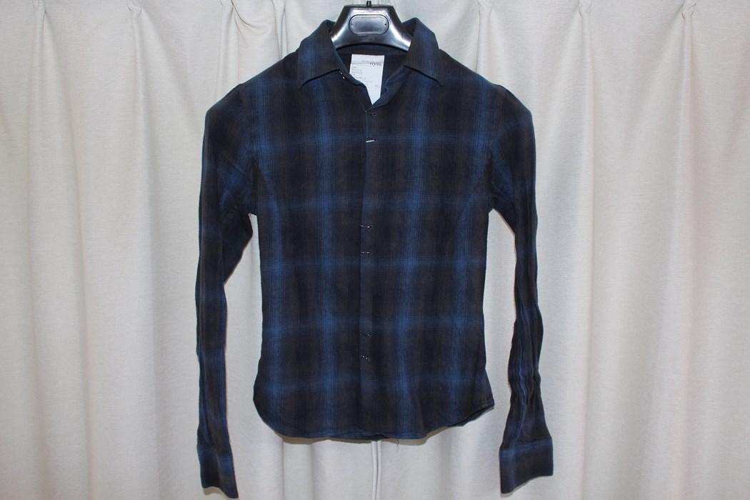 エイチワイエム hym メンズコットンホックシャツ ブルー 日本製 新品