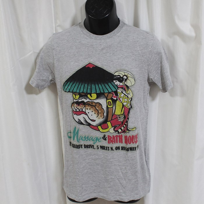 エドハーディー ed hardy メンズ半袖Tシャツ グレー アメリカ製 M02NBCN453 正規品 新品 ドン・エド・ハーディー DON ED HARDY