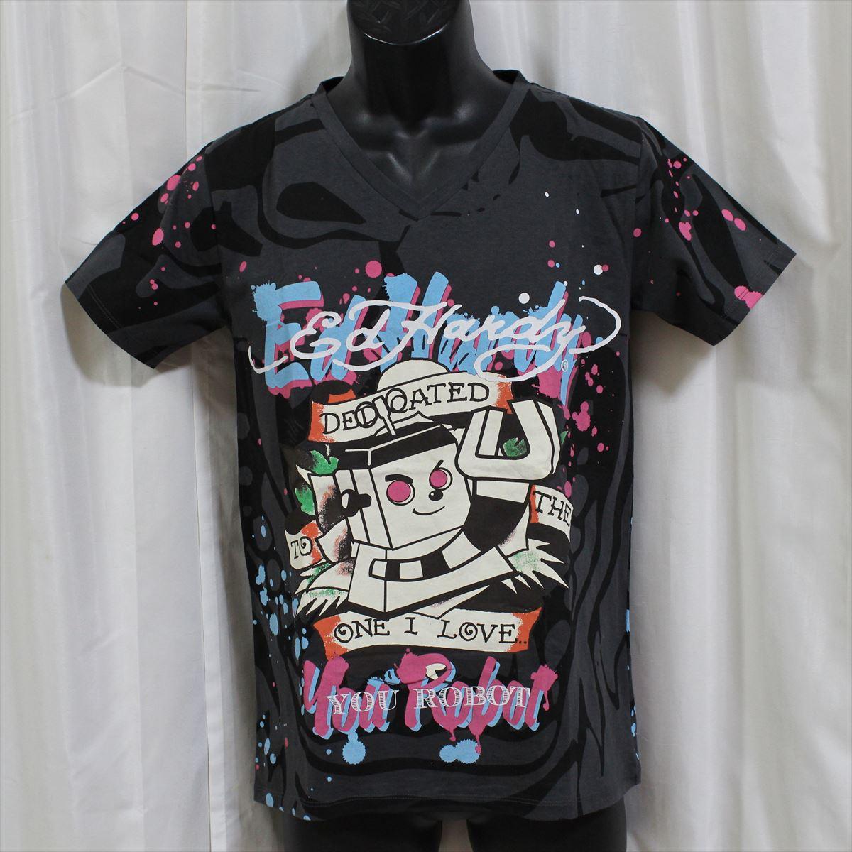 エドハーディー ed hardy メンズ半袖Tシャツ チャコール 新品 限定モデル