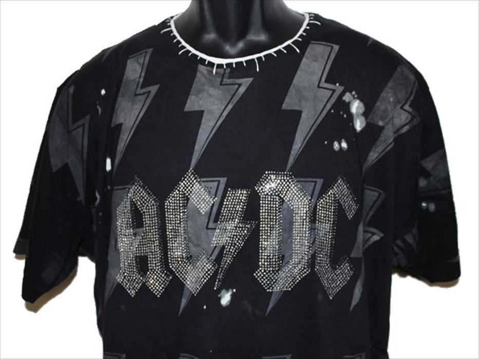 3f429b8ce Sadistic Action sadistic ICONIC COUTURE (iconic) men's short sleeve T shirt  AC/DC Czech crystal