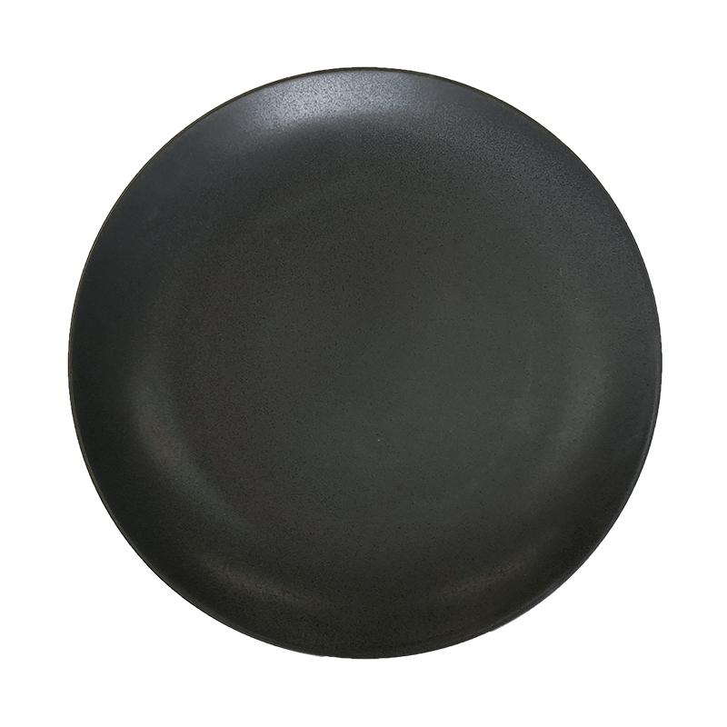 食器 黒 大堀相馬焼 クロテラス 丸皿 特大 300mm 黒照 雄勝硯 漆黒 高級 陶磁器 焼き物 映える 日本製 お皿 盛り付け 大皿 和食器 贈り物 プレゼント 黒い かっこいい おしゃれ 大きい