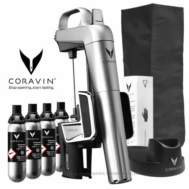 【箱にシール跡あり】CORAVIN コラヴァン モデル2 エリート シルバー プラスセット【メーカー保証+WAC保証=3年保証】 CRV1002SET