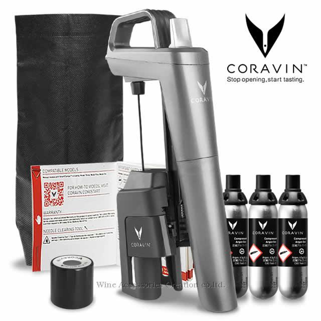 コルクを抜かずにワインが注げるCORAVINの2020NEWモデル CORAVIN コラヴァン モデル5 グレー 5☆大好評 祝開店大放出セール開催中 CRV1014 WAC保証=3年保証 メーカー保証