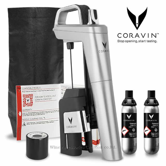 コルクを抜かずにワインが注げるCORAVINの2020NEWモデル CORAVIN コラヴァン モデル6 メーカー保証 WAC保証=3年保証 CRV1016 アウトレットセール 特集 シルバー おトク