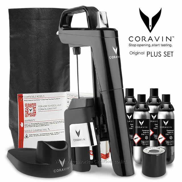 【お一人様1点まで】CORAVIN コラヴァン モデル6 ピアノブラック プラスセット 【メーカー保証+WAC保証=3年保証】 CRV1017SET