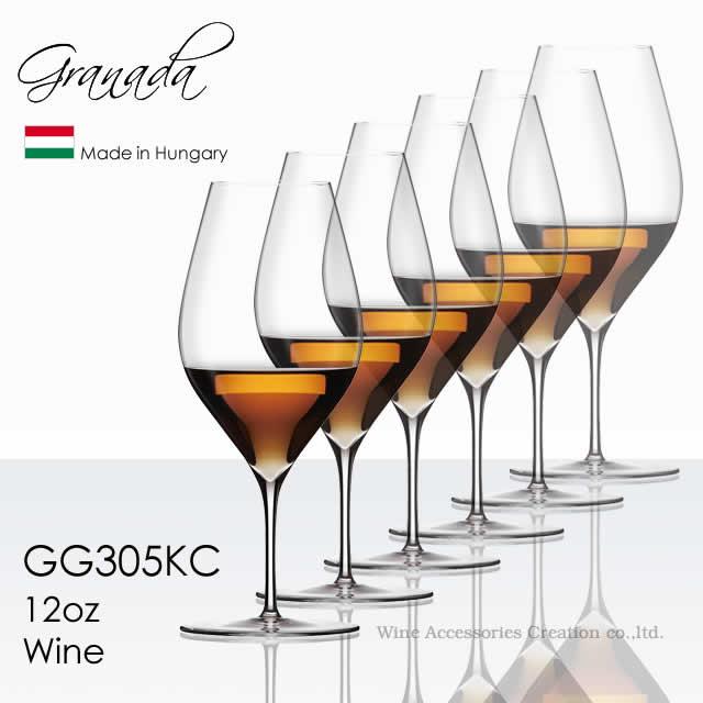 全体の高さを揃えたハンドメイドのワイングラス 木村硝子店 Granada グラナダ 12oz ワイン 350ml 6脚セット【正規品】 GG305KCx6 ラッピング不可商品
