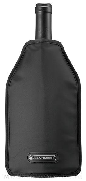 ル クルーゼ キャンペーン セール商品 期間限定のお買い得 ボトルにかぶせるだけで白ワイン シャンパンをしっかり冷やす ギフトラッピング無し商品 スリーブ ブラック 公式ストア アイスクーラー ワイングッズ