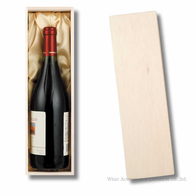 桐材を使用した美しい木箱 限定タイムセール 爆買いセール 贈答用木箱布張り ワイン1本用ラッピング不可商品