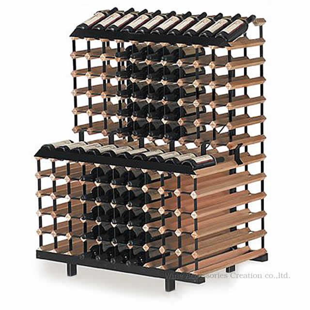 ワインの見せ方、収納に秀でたワインラック ボルデックス(旧モントレー) ウォールユニット 180本用【お客様組立て商品】【※納期1週間程度かかります】