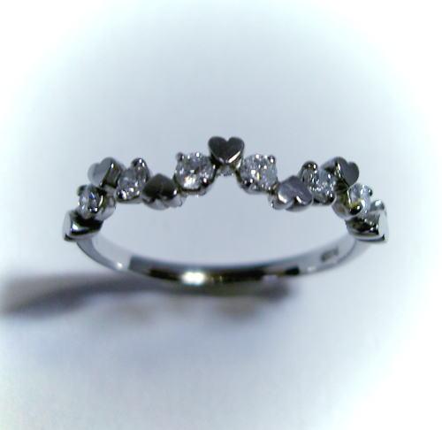 プラチナ ダイヤモンド0.3ct ハートリング♪