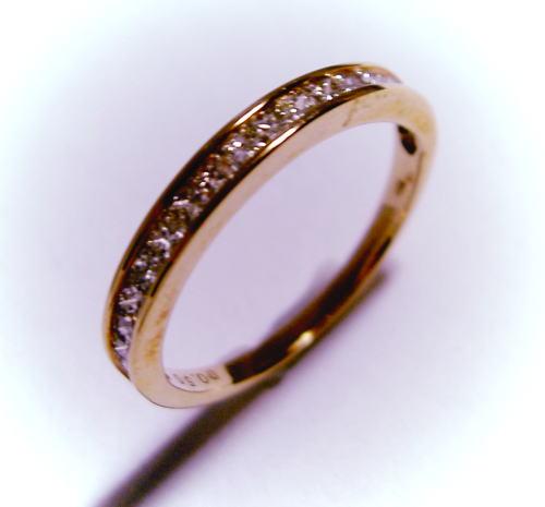 K18ピンクゴールド プリンセスカットダイヤモンド0.5ct ハーフエタニティ リング♪