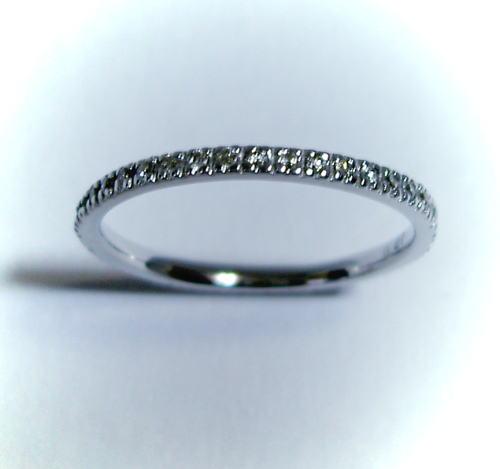 K18ホワイトゴールド ダイヤモンド0.27ct フルエタニティ リング♪ サイズ11号