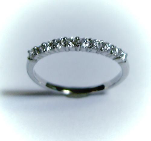 プラチナ ダイヤモンド0.29ct ハーフエタニティリング(指輪)スイートテン♪