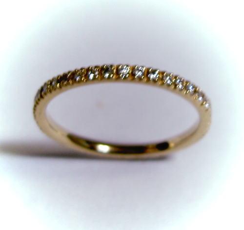 K18ピンクゴールド ダイヤモンド0.28ct フルエタニティリング(指輪)♪