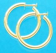 K18 ネジ式) ゴールド イヤリング 少し太目のパイプ輪 3mm×30mm(フープ ゴールド K18 ネジ式) er-k18-3x30, ガーデニングならフォーシーズンズ:fe794e0e --- odigitria-palekh.ru