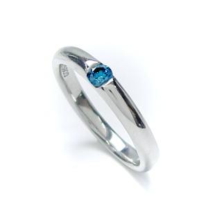 BLUE ANGEL 【ブルーエンジェル】PTプラチナブルーダイヤリング♪マリッジリング、結婚指輪、ペアリング用