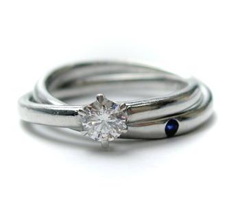 SaintePure【セントピュール】プラチナ ダイヤモンド リング♪0.25ct E-VS2-EX