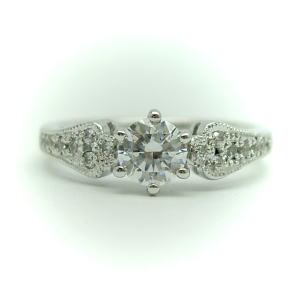プラチナ空枠(中心のダイヤは別売り)0.25-0.3ct用 KWR-8-0.25/0.3♪