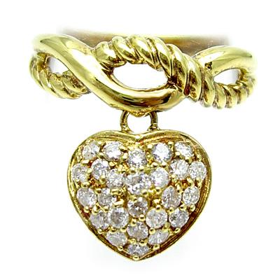 K18イエローゴールド ダイヤモンド ハートリング♪