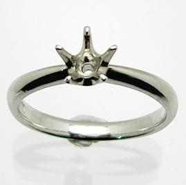 【新作】プラチナ 空枠(中心のダイヤは別売り)KWR-21(5本爪)0.25/0.3ct.用♪(中心のダイヤは価格に含まれていません)