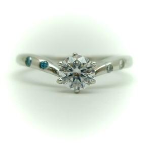 プラチナ 空枠(中心のダイヤは別売り) KWR-17-0.25/0.3♪ (中心のダイヤは価格に含まれていません)