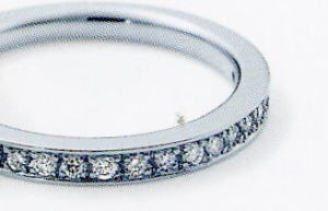 】★NINA RICCI【ニナリッチ】(57)6RB0007-2ハーフエタニティリング・マリッジリング・結婚指輪・ペアリング用(1本)