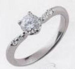 PT-900プラチナ V字リング空枠(シチズン)146-82062(4本爪 0.5ct.ct.用)(中心のダイヤは別売り)