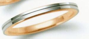 ★NINA RICCI【ニナリッチ】(38)6R1F06-3マリッジリング・結婚指輪・ペアリング用(1本)