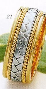 ★Tresoro【トレソロ】(21)16K02 wide 8.0mmマリッジリング・結婚指輪・ペアリング用(1本)