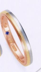 ★お買い得特別価格!!★RomanticBlue ロマンティックブルーPT900プラチナ/K18YG イエローゴールド/K18PGピンクゴールド4B5001(20)マリッジリング・結婚指輪・ペアリング用(1本)