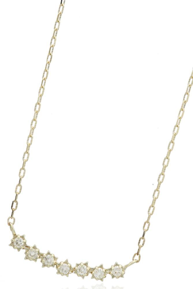 95-2665【受注生産】me.luxe K10WG(ホワイトゴール) スターモチーフ ダイヤモンド ネックレス ペンダント