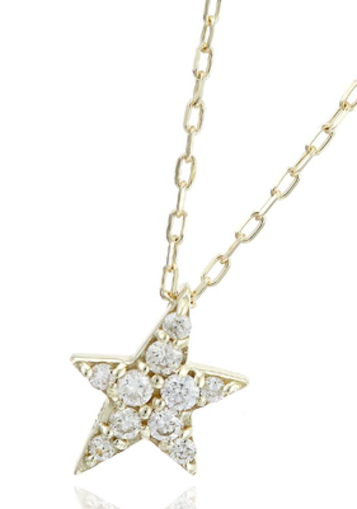 95-2669【受注生産】me.luxe K10WG(ホワイトゴールド)  ダイヤモンド スターモチーフ ネックレス(ペンダント)