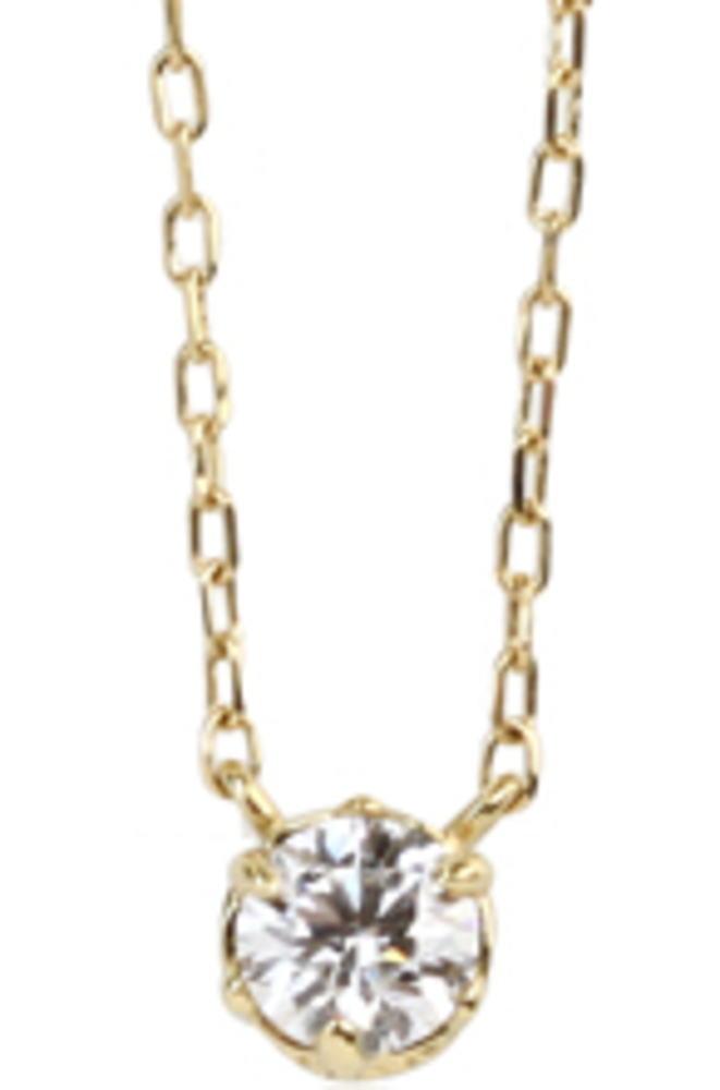 95-0991【受注生産】 me.luxe K18YG(イエローゴールド) 0.1ct クラシカル&ダイヤモンド ネックレス(ペンダント)