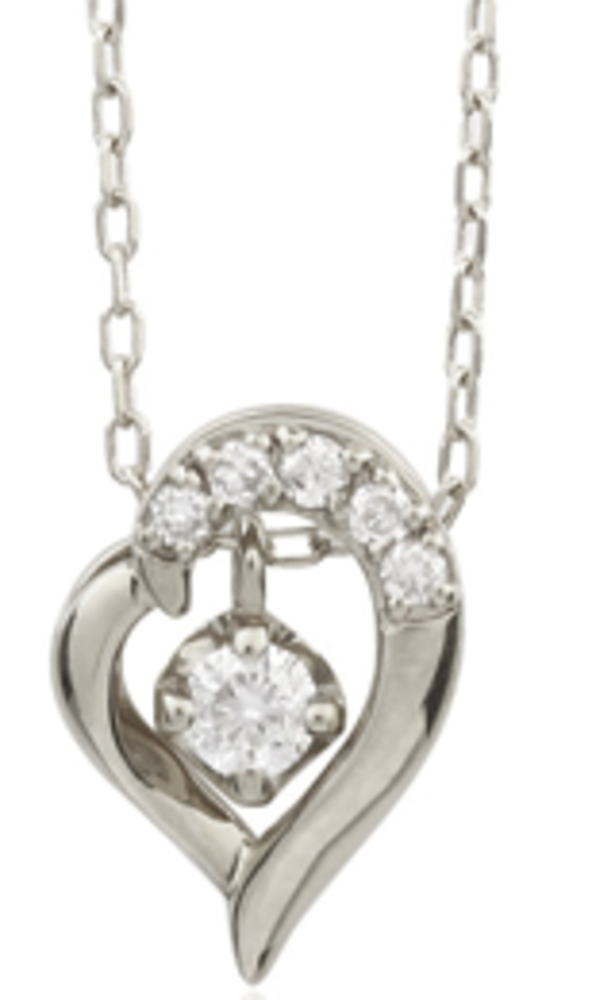 95-1039wg-1040pg-1041yg【受注生産】 me.luxe 7wayハート ダイヤモンド ネックレス(ペンダント)