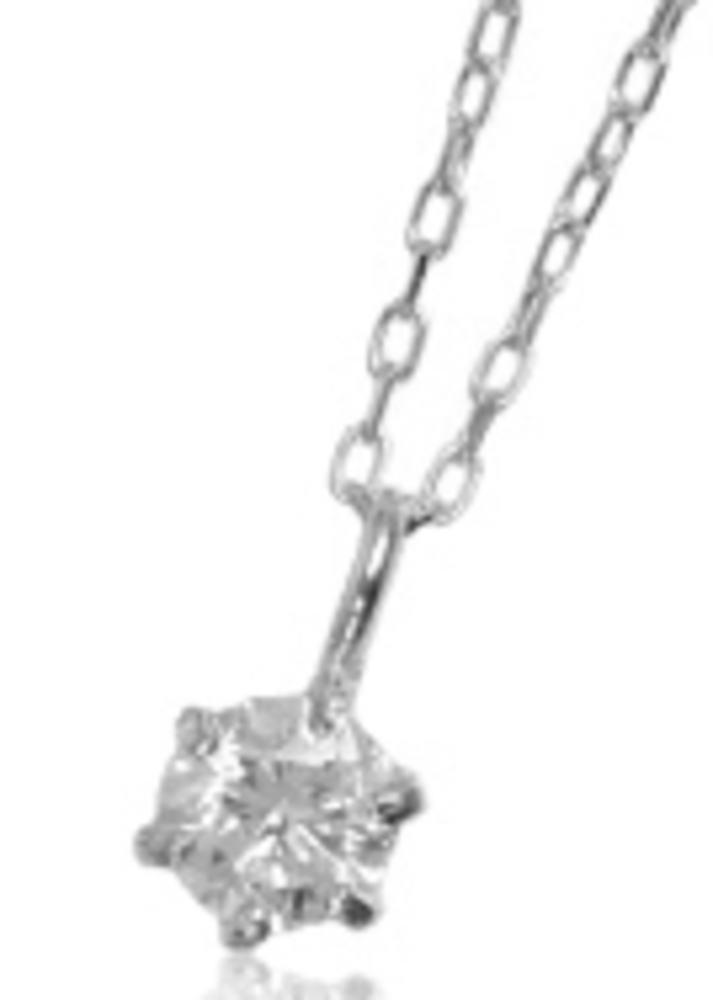 95-0681-0682-0683【受注生産】me. K10ゴールド(WG,PG,YG)バースデーストーン 4月 ダイヤモンド 一粒石 ネックレス(ペンダント)