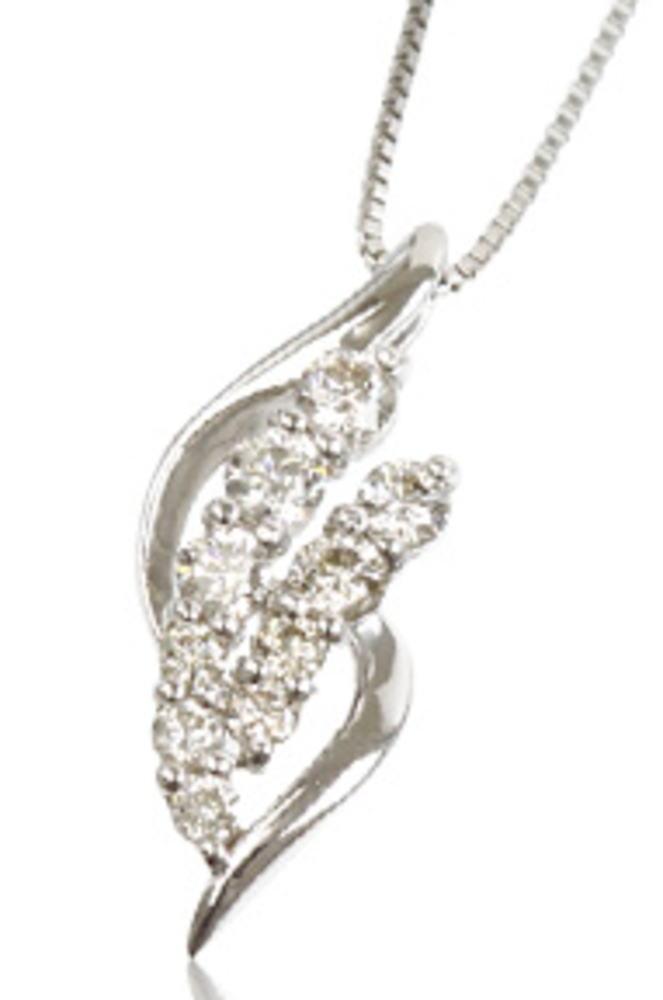 95-8013 【受注生産】0.32ct プラチナ ダイヤモンド ネックレス (ペンダント)