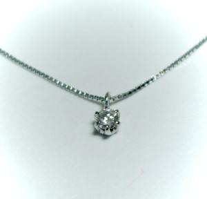 K10WG ホワイトゴールドダイヤモンド0.05ct ペンダント / ネックレス