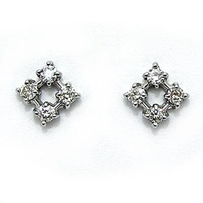 K18ホワイトゴールドダイヤモンド ピアス