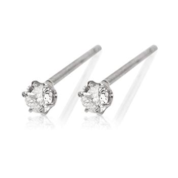 95-8077【受注生産】PT900(プラチナ) 0.3ctダイヤモンド×プラチナピアス
