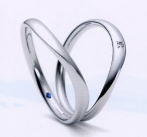 ★お買い得特別価格!!★Romantic Blue ロマンティックブルー4B1002(9)&4A1002(10)(ダイヤ)(2本セット)PT900プラチナマリッジリング・結婚指輪・ペアリング・