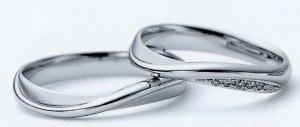★お買い得特別価格!!★RomanticBlueロマンティックブルー4RK014(11)&4RK027ダイヤ(12)ー2本セットマリッジリング・結婚指輪・ペアリング