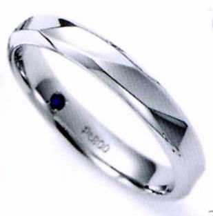 ★お買い得特別価格!!★RomanticBlueロマンティックブルー4RK004 (36)マリッジリング・結婚指輪・ペアリング用(1本)