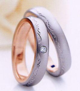 ★お買い得特別価格!!★RomanticBlueロマンティックブルー4RK017(25)&4RK016(26)-2本セットマリッジリング・結婚指輪・ペアリング