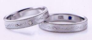 ★お買い得特別価格!!★RomanticBlueロマンティックブルー4RK019(27)&4RK018(28)-2本セットマリッジリング・結婚指輪・ペアリング