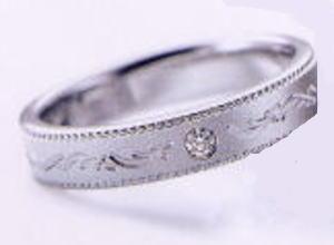 ★お買い得特別価格!!★RomanticBlueロマンティックブルー4RK019(27)マリッジリング・結婚指輪・ペアリング用(1本)