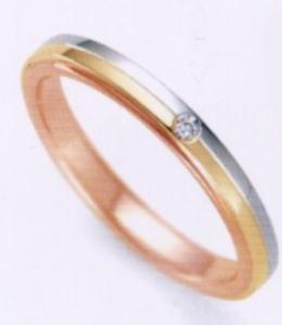★お買い得特別価格!!★RomanticBlue ロマンティックブルーPT900プラチナ/K18YG イエローゴールド/K18PGピンクゴールド4A5001(19)マリッジリング・結婚指輪・ペアリング用(1本)