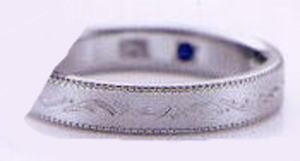 ★お買い得特別価格!!★RomanticBlueロマンティックブルー4RK018(28)マリッジリング・結婚指輪・ペアリング用(1本)